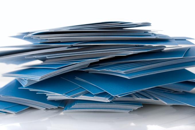 Tarjetas de presentacion impresas